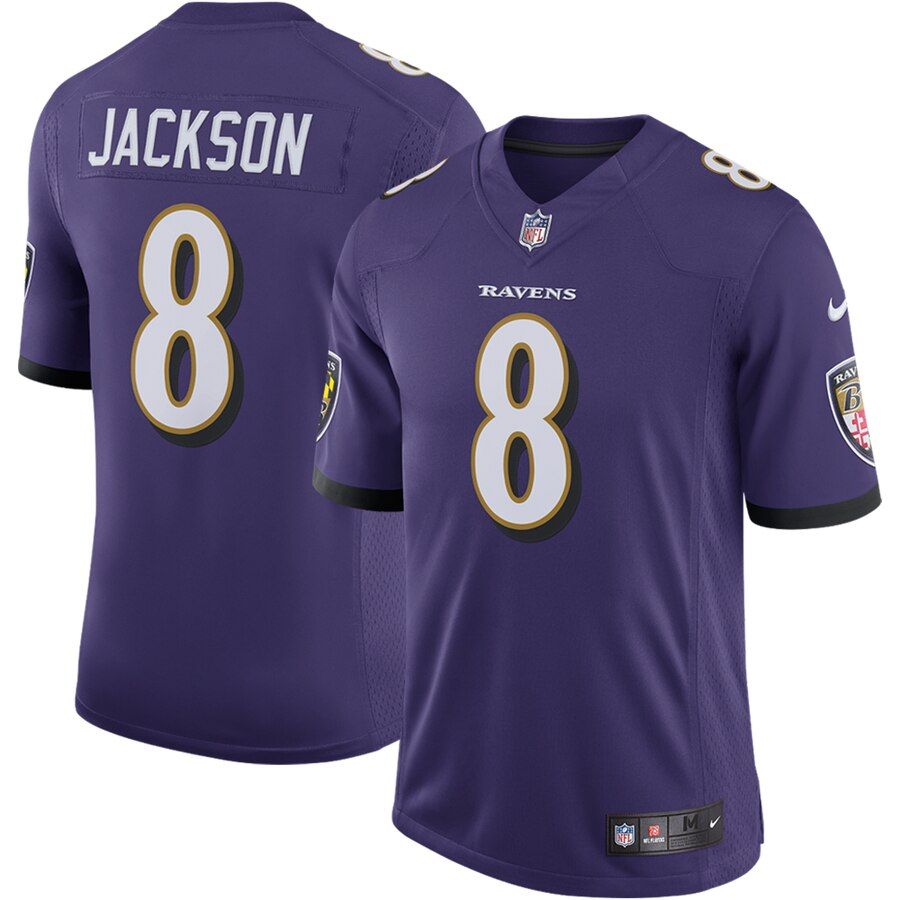 Men's NFL Baltimore Ravens Lamar Jackson Home- Limited Player ...