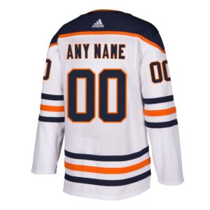 CUSTOM  Mens Edmonton Oilers Adidas Authentic Away Jersey with ON ICE Cresting