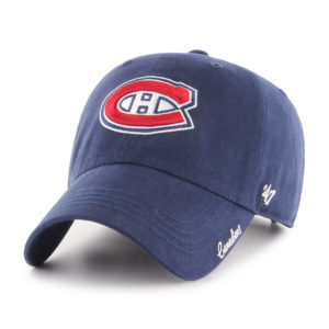 Womens NHL Montreal Canadiens 47 Brand Navy Miata Clean Up  Adjustable Hat