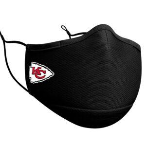 Adult NFL Kansas City Chiefs New Era Black On-Field Face Covering