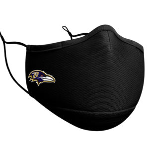 Adult NFL Baltimore Ravens New Era Black On-Field Face Covering