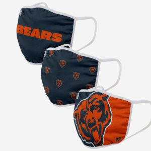 Adult NFL Chicago Bears 3 Pack Face Cover