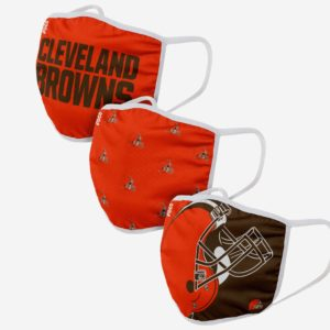 Adult NFL Cleveland Browns 3 Pack Face Cover