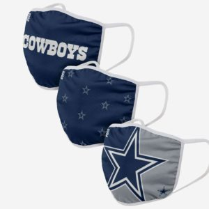 Adult NFL Dallas Cowboys 3 Pack Face Cover