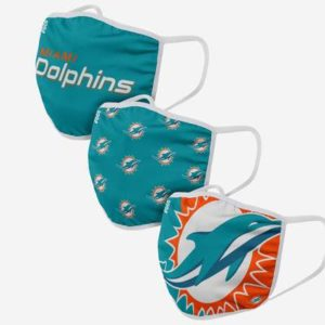 Adult NFL Miami Dolphins 3 Pack Face Cover