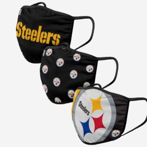 Adult NFL Pittsburgh Steelers 3 Pack Face Cover