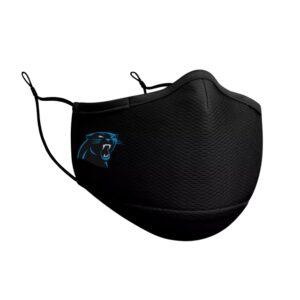 Adult NFL Carolina Panthers New Era Black On-Field Face Covering