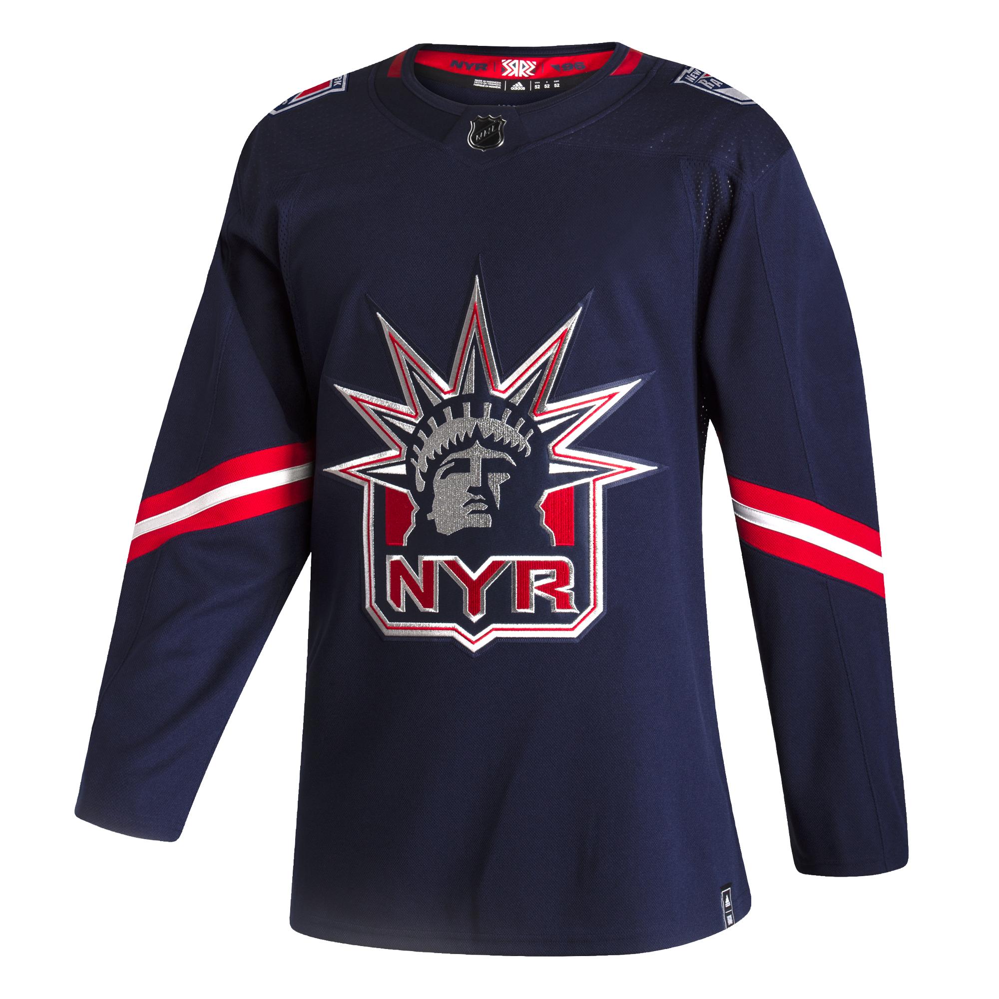 Men's NHL New York Rangers Adidas Blue 2020/21 Reverse Retro ...